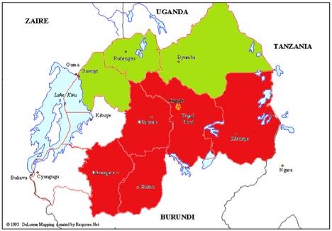 carte topo rwanda