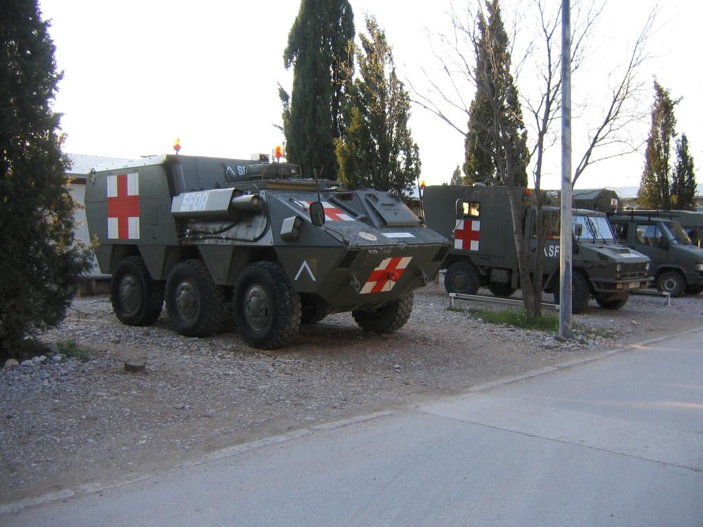 Ambulance blindée espagnole (Mostar)