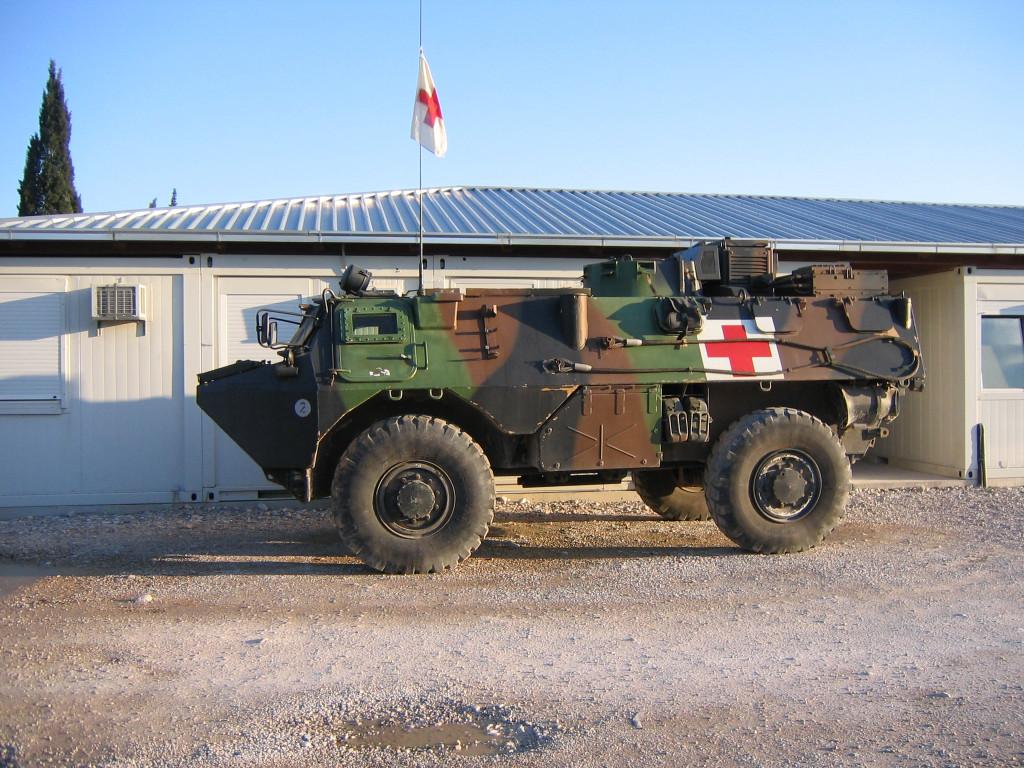 VAB SAN français (véhicule de l'avant blindé sanitaire)